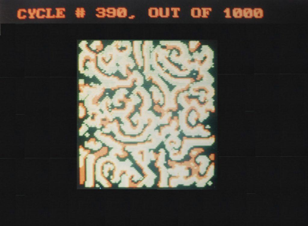 Chaos Simulation, Graduate Work, 1988